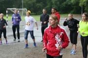 Дождь спортсменам не помеха. Екатеринбуржцы приняли участие в «олимпийском» мастер-классе от Олеси Красномовец