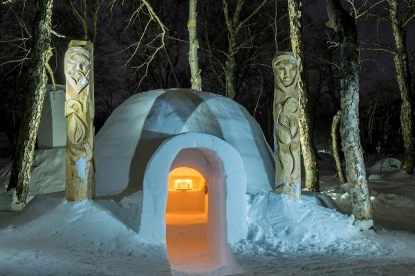 У подножия вулкана на Камчатке уральцы откроют первый в России иглу-отель с термальным бассейном