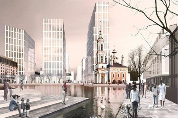 Как в Европе. В центре Екатеринбурга построят огромный  жилой комплекс-парк с водоемом, церковью и фермерским рынком
