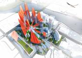 «Екатеринбург-Сити» превратится в 250-метровый Каменный цветок с каскадом площадей. ФОТО