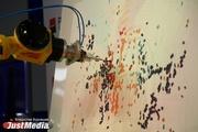 Люди с головой ныряют в 400-метровую шахту и подрабатывают палитрой для робота-художника. Чем удивляет ИННОПРОМ-2017. ФОТО, ВИДЕО