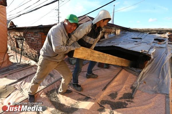 Восстановление дома в Городке чекистов началось только через четыре месяца