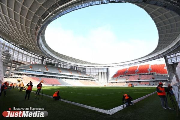 Дефект дренажной системы, нет вертолетной площадки и большей части трибун. JustMedia с комиссией FIFA провел инспекцию Екатеринбург-арены. ФОТО