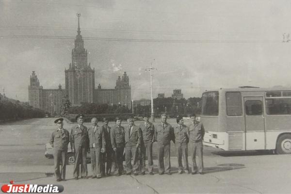 Водители свердловского объединения проходят стажировку. Москва, 1980 год.
