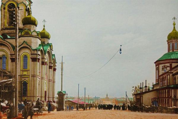 Церкви Большой и Малый Златоусты. ФОТО:  набор открыток, издатель С.Н. Лобанов