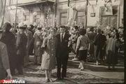 Первомайская демонстрация в Свердловске, 1961 год.