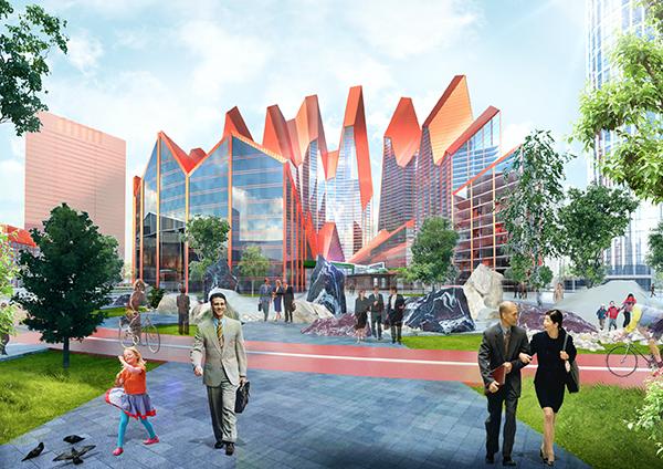 Деловой квартал «Екатеринбург-Сити» вцентре города застроят встиле сказов Бажова