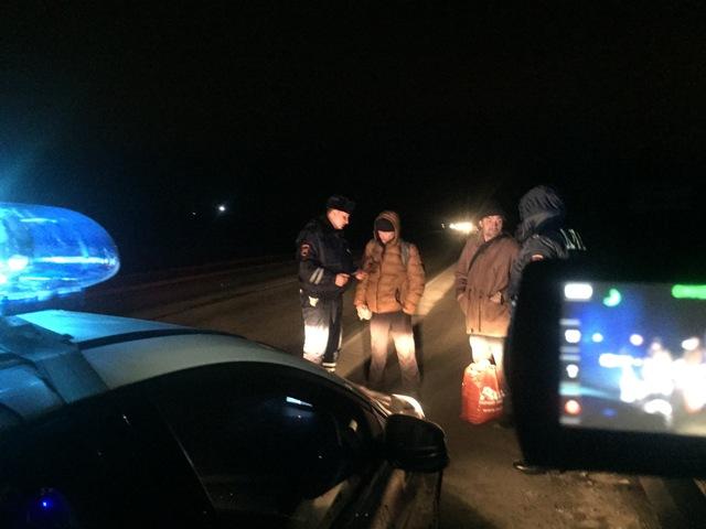 Ночью на трассах Свердловской области словили 18 пешеходов