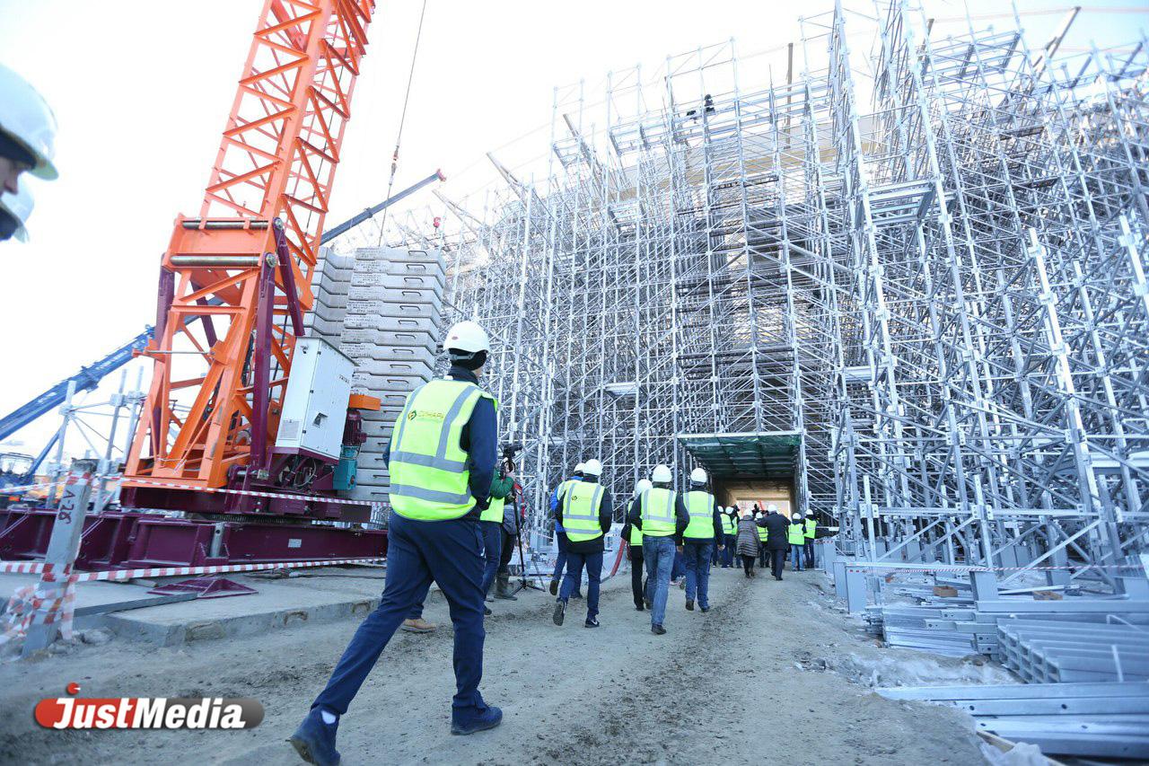 Футболисты «Урала» впервый раз  посетили «Екатеринбург-Арену»