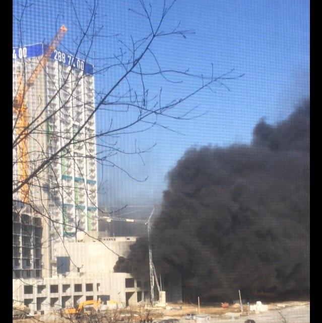 ВЕкатеринбурге горел «Московский квартал»