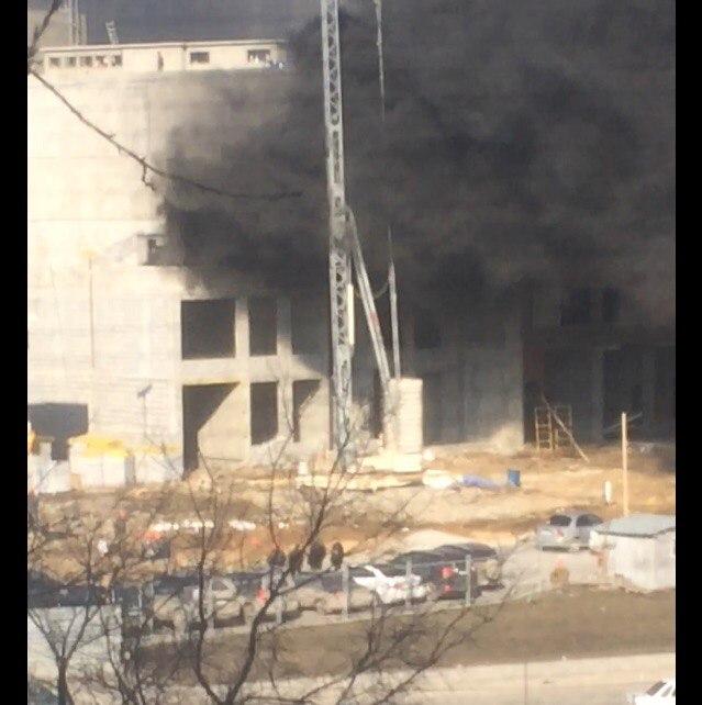 ВЕкатеринбурге настройплощадкеЖК «Московский квартал» произошел пожар