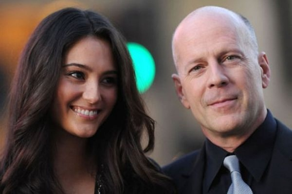 Proud new parents: bruce willis and emma heming, seen on april 28