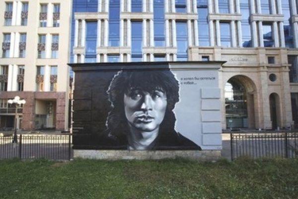 Врио губернатора Петербурга Полтавченко распорядился не закрашивать портрет Виктора Цоя