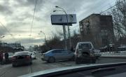 На Макаровском мосту произошло массовое ДТП с участием пяти машин