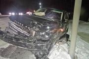 На Полевском тракте внедорожник врезался в неуступившую дорогу легковушку