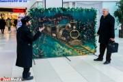 В Екатеринбурге установили  объемные двухметровые новогодние открытки