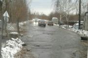В Верх-Исетском районе потоп! Строители повредили трубу