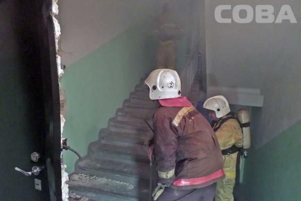 Пенсионерка пострадала при пожаре в многоэтажке на ВИЗе
