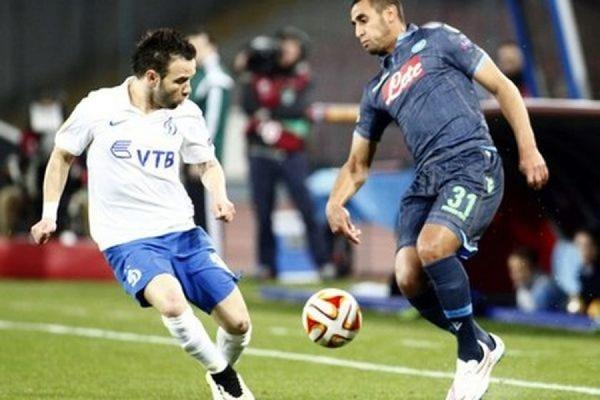 Московское «Динамо» уступило «Наполи» в первом матче 1/8 финала Лиги Европы