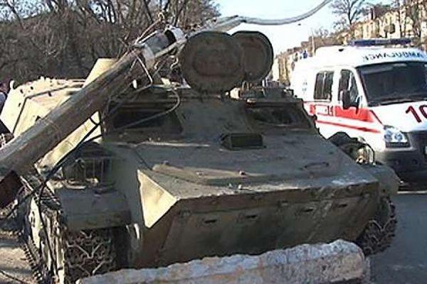 ДТП с участием бронемашины украинских военных привело к волнениям в Константиновке