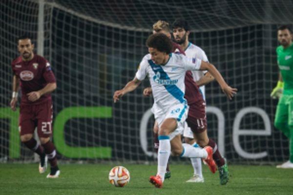 «Зенит» проиграл итальянскому «Торино», но вышел в четвертьфинал Лиги Европы УЕФА