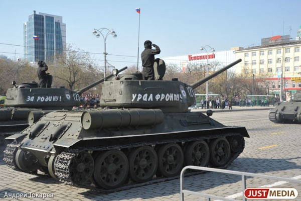 В апреле репетиции парада военной техники пройдут на Вторчермете, а в мае – в центре Екатеринбурга. ГРАФИК ПЕРЕКРЫТИЯ УЛИЦ