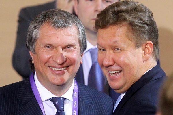 Власти РФ разрешили Сечину, Якунину и Миллеру не раскрывать свои доходы