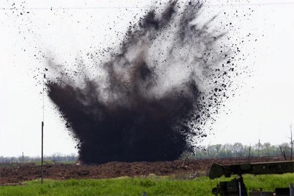 Пожар на полигоне в Ростовской области потушен