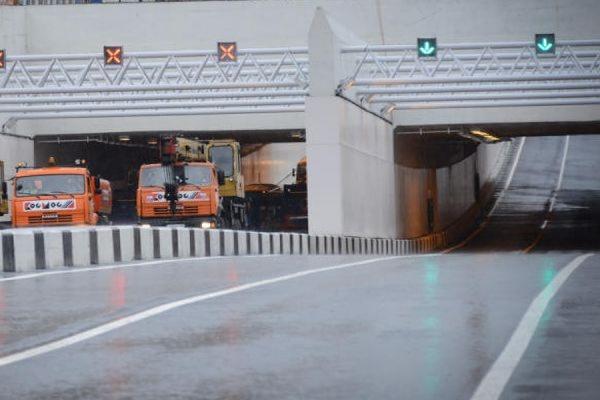 В Москве открыли новый тоннель на пересечении Дмитровского шоссе с МКАД