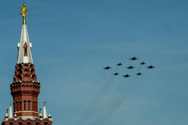 В Москве прошла первая репетиция воздушной части парада Победы