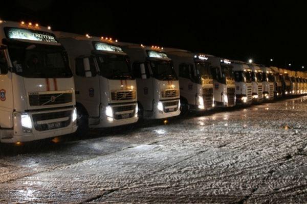 В Донбасс отправилась очередная колонна МЧС с гуманитарной помощью