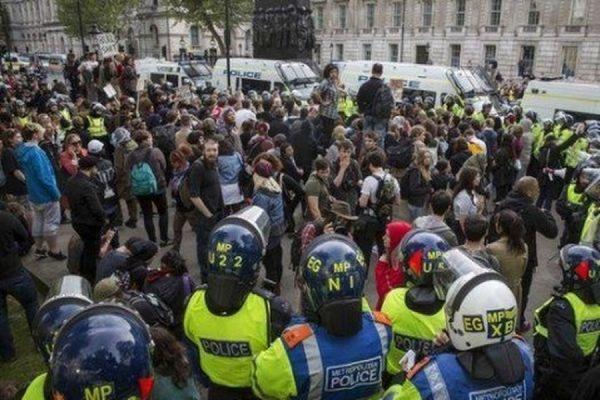 В ходе акции протеста в Лондоне задержаны три человека