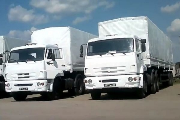 Гумколонна из России прибыла в Донецк и Луганск