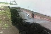 В Камышловском районе рушится садик, который благоустраивали в спешке всю зиму