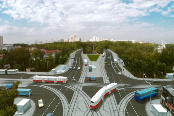 Через две недели из-за строительства подземного перехода закроют движение транспорта на перекрестке Ленина—Московская