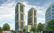 На пересечении Гагарина—Ботаническая  хотят построить две тридцатиэтажные высотки, соединенные стеклянным переходом. ФОТО