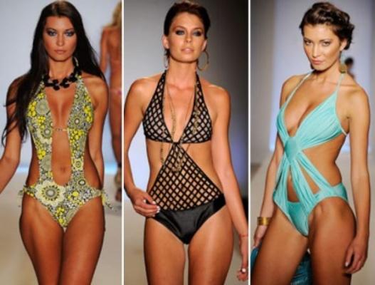 Модные купальники монокини – тренд 2015