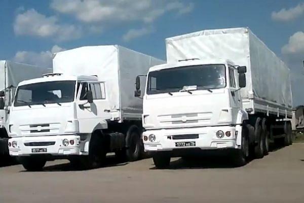 На границу прибыла колонна МЧС России с гуманитарной помощью Донбассу