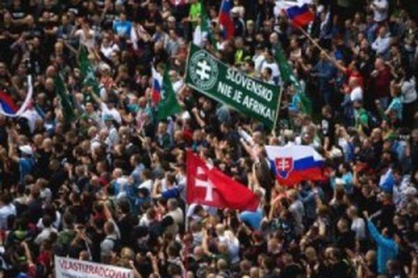 В Братиславе задержаны 140 участников акции против увеличения численности мигрантов