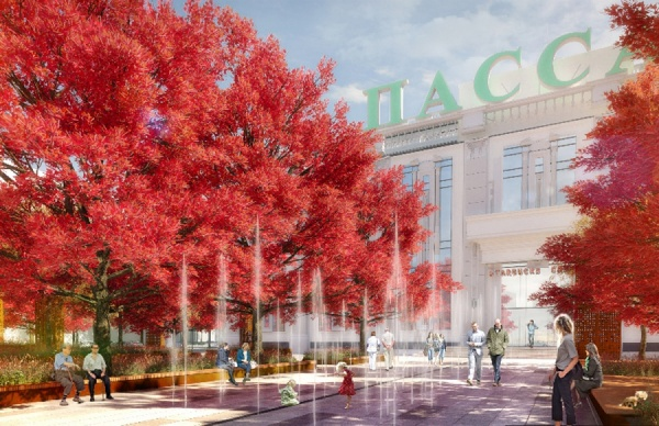 В Екатеринбурге сквер перед «Пассажем» превратится в первый кленовый парк. ФОТО