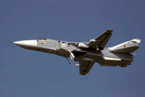Вчера потерпел крушение бомбардировщик Су-24М