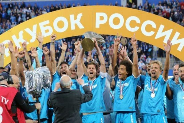 Петербургский «Зенит» в третий раз в своей истории выиграл Суперкубок России