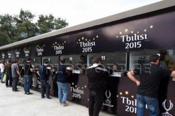 В Тбилиси при покупке билетов на Суперкубок УЕФА пострадали десятки человек