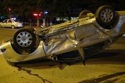 В Екатеринбурге бесправный водитель иномарки насмерть сбил мотоциклиста. Машино перевернуло на крышу