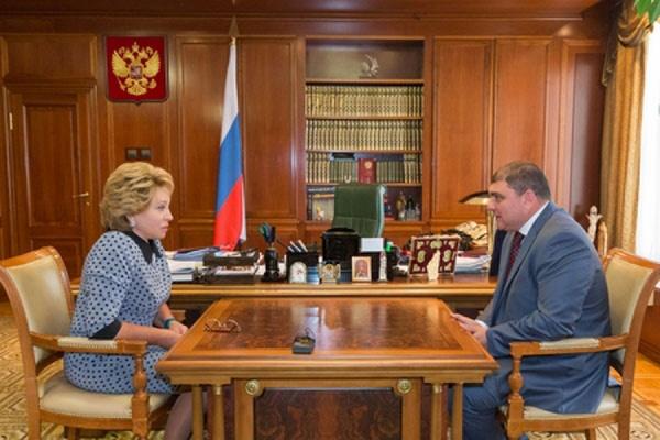 Валентина Матвиенко и Вадим Потомский обсудили ряд важных вопросов по Орловской области