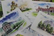 В почтовых отделениях Екатеринбурга продают уникальные открытки с достопримечательностями города