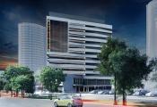 На Уралмаше построят четырнадцатиэтажный деловой центр с кафе и апартаментами в пентхаусе. ЭСКИЗЫ