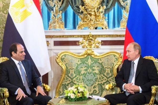 Путин в Кремле обсудил с президентом Египта борьбу с терроризмом