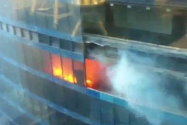 В башне «Восток» бизнес-центра «Москва-сити» произошло второе за сутки возгорание