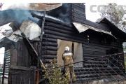 В «Саду Горздрава» сгорел двухэтажный дом